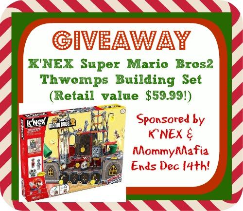 Enter to WIN! K'NEX Super Mario Thwomps Building Set (Retail value $60)