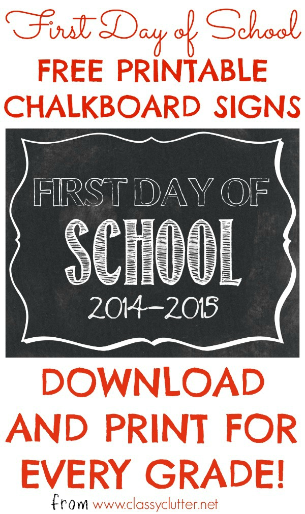 graphic regarding Free Printable First Day of Kindergarten Sign known as Cost-free Initial Working day of University Printables - Mommy Mafia