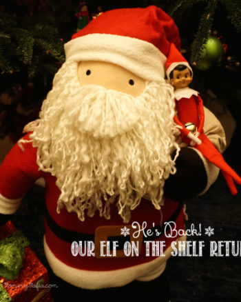 He's Back! Our Elf on the Shelf Returns