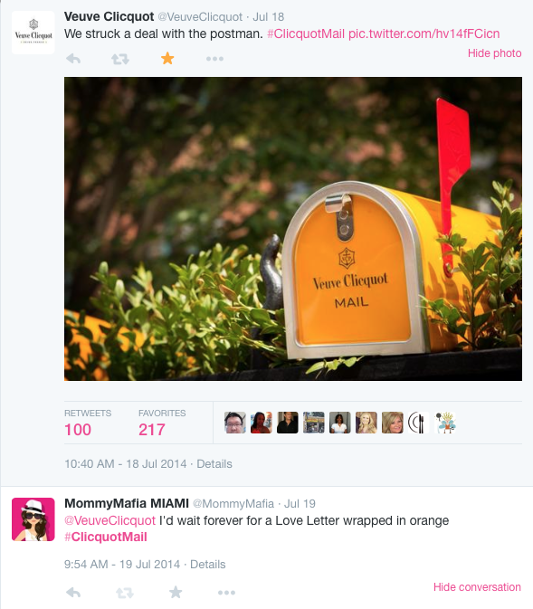 #ClicquotMail mailbox mommymafia.com