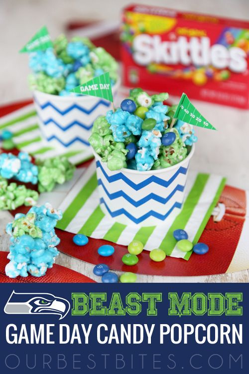Game Day Candy Popcorn