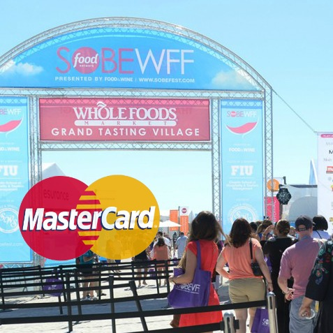 MasterCard Cardholders 15% Discount SOBEWFF Whole Foods Market Grand Tasting Village