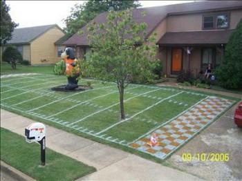 Super Bowl Party lawn