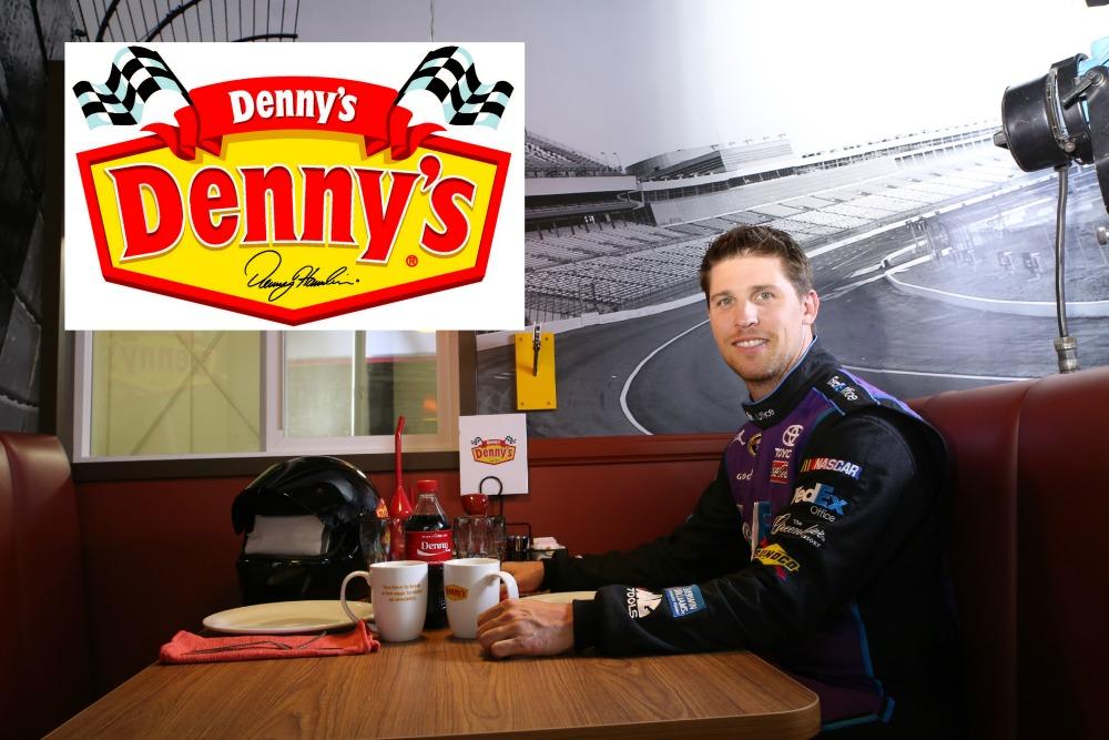 Denny Hamlin Denny's Dennys MommyMafia.com Nascar