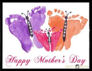 Mother's Day Keepsake Butterfly Footprints