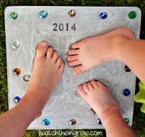 Mother's Day Keepsake footprint stepping stones