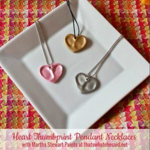 Mothers Day keepsake Heart thumbprint charm necklace