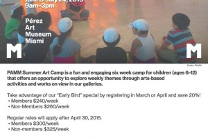 PAMM Summer Art Camp Discount Special Only Until April 30th