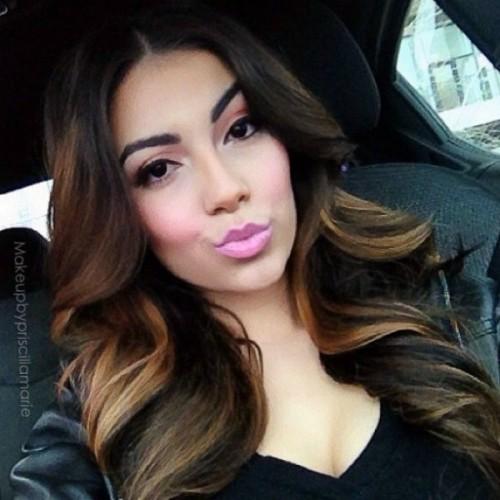 long hair lowlights