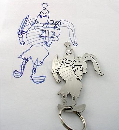 mother's day keepsake child art jewelry