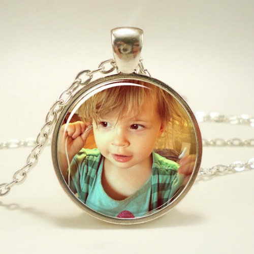 mothers day keepsake personalized photo necklace