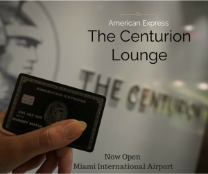 Centurion Lounge MIA MommyMafia.com