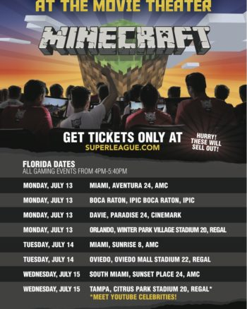 Little Gamer Alert! Play Minecraft At The Movies!