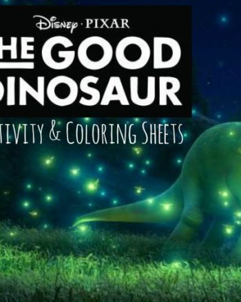 The Good Dinosaur Free Coloring Pages & Activity Pages