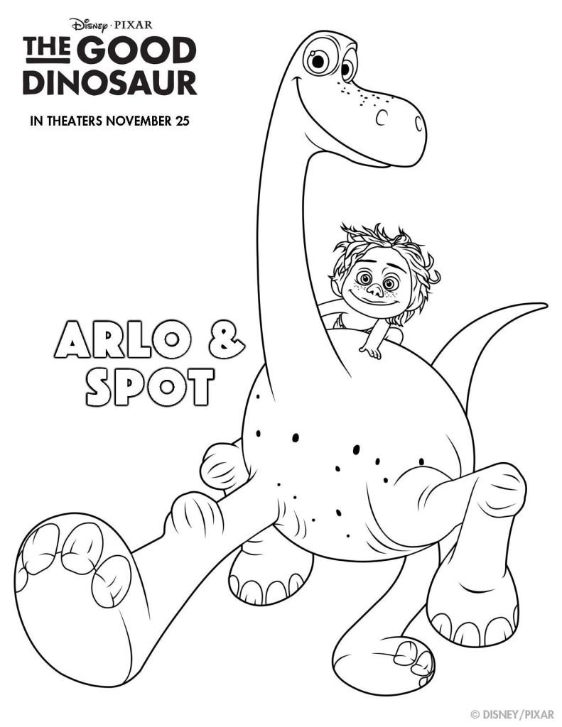 Disney's The Good Dinosaur Free Activity Sheets