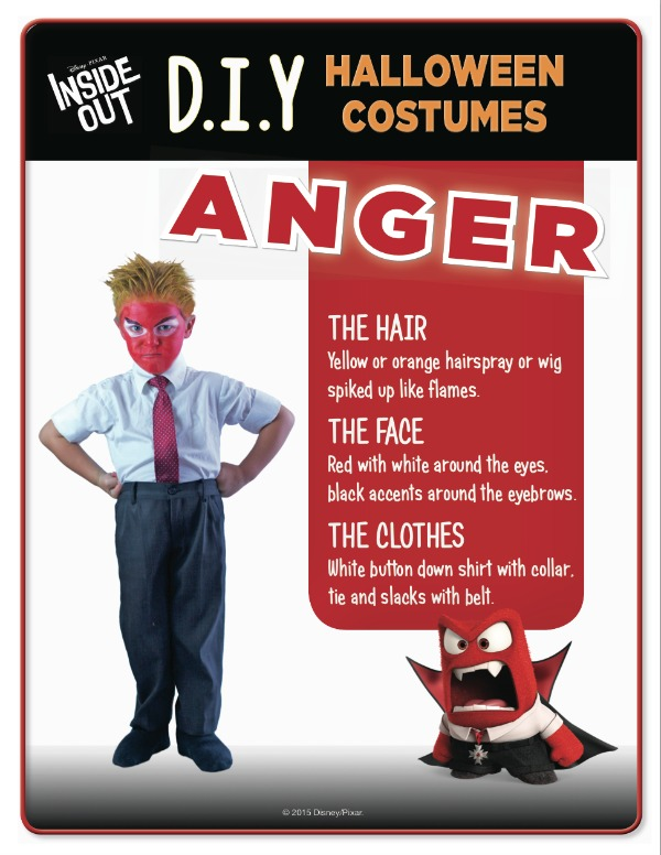 Disney Inside Out Anger costume