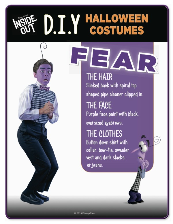 Disney Inside Out Fear costume