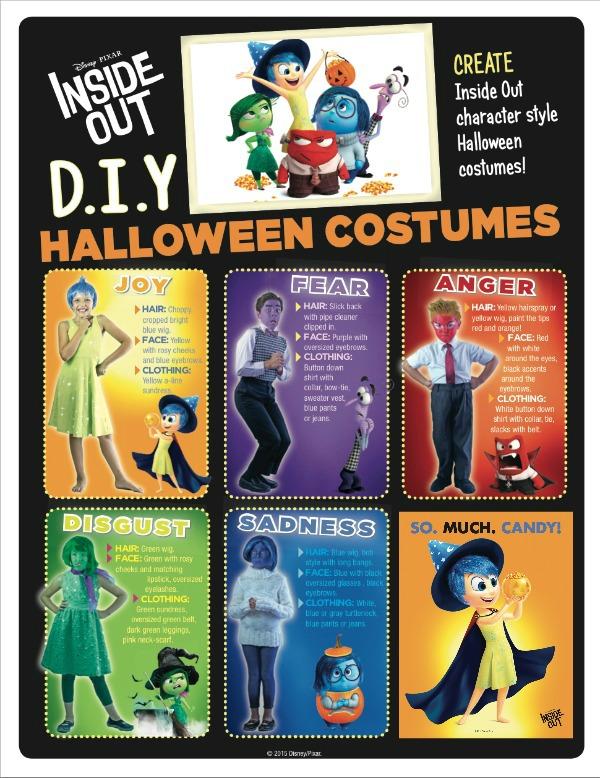 Disney Inside Out Halloween ideas