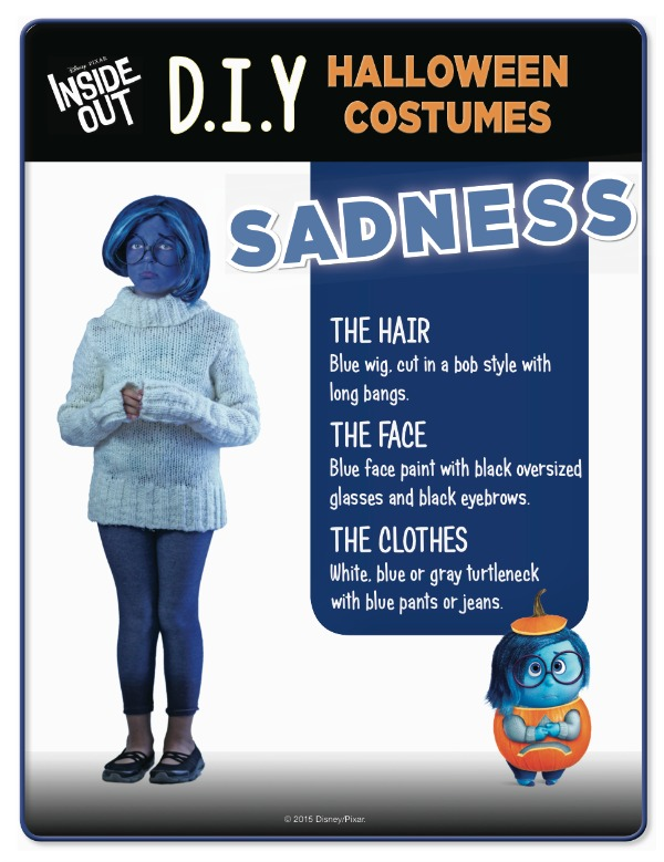 Disney Inside Out Sadness Costume