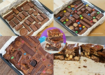 Leftover Halloween-Candy-Brownies