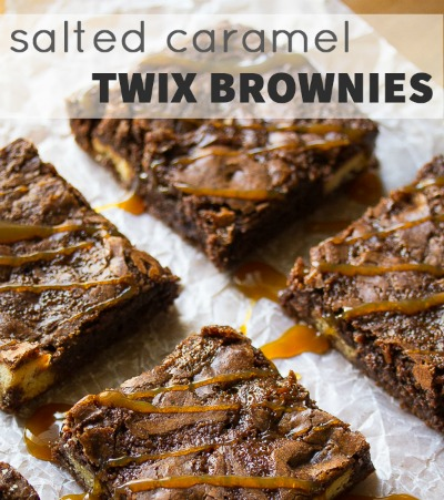 leftover halloween candy recipe twix brownies