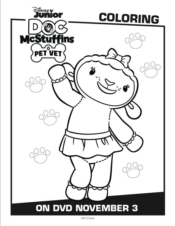Disney Doc McStuffins Coloring Pages Doc McStuffins Pet
