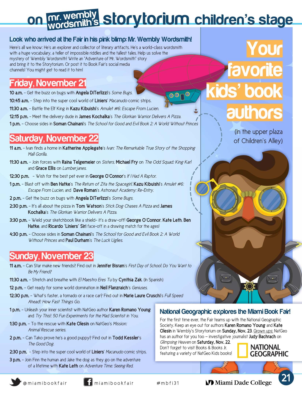 Miami Book Fair Storyteller