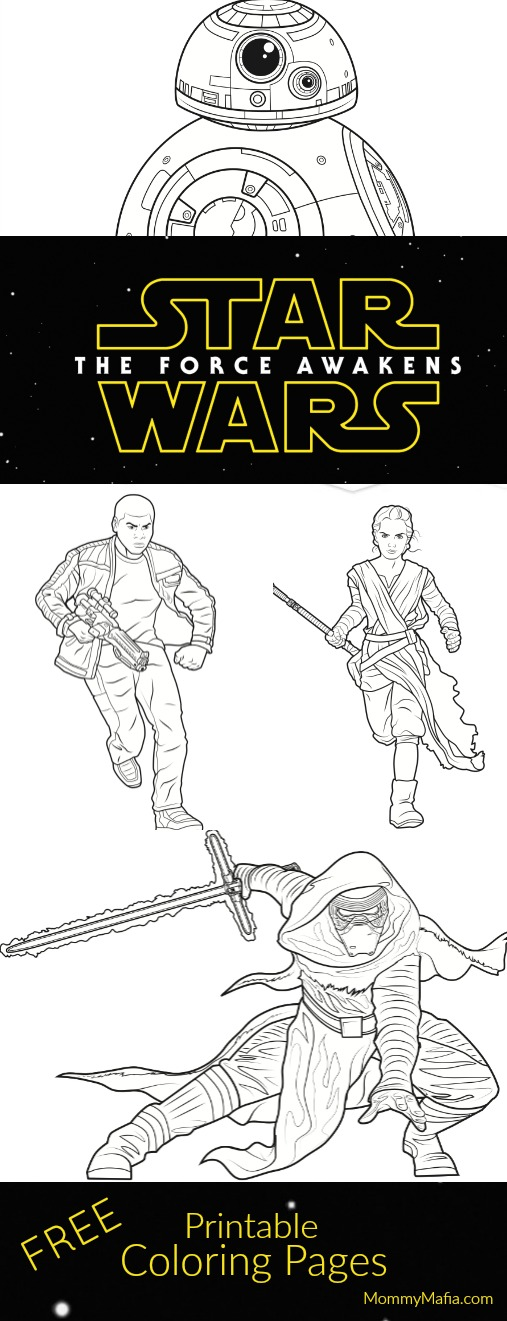 The Force Awakens | Star Wars (Free Coloring Pages!) For Your Little ...