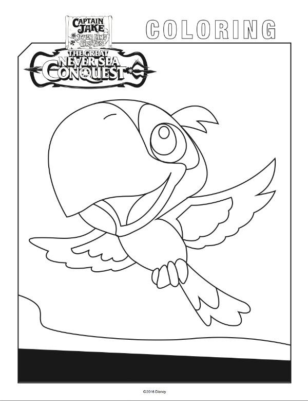 Disney jr jake pirate free coloring pages