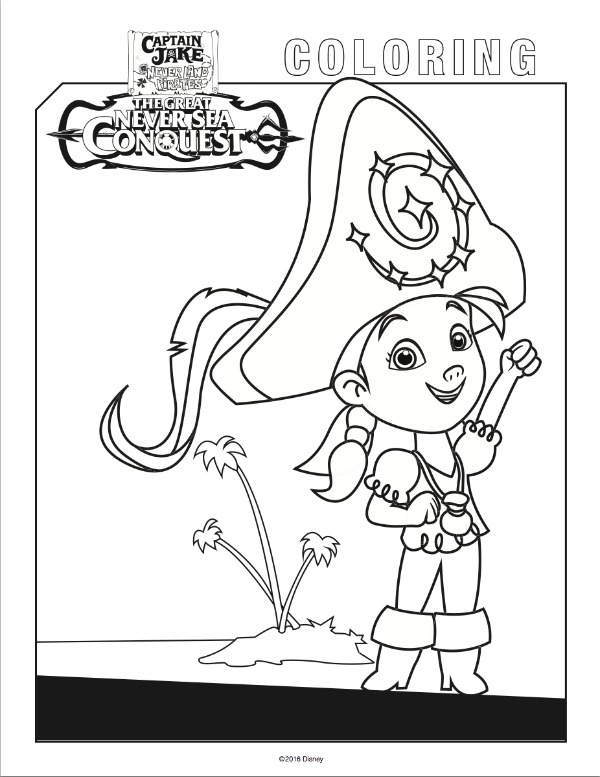 Free Jake Neverland Pirates coloring pages