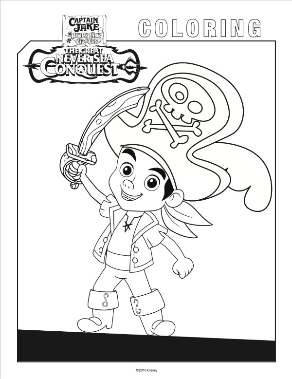 Jake Neverland Pirates Free coloring pages MommyMafia.com