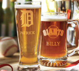 Fathers day MLB glassware