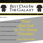 All About My Darth Vader Dad | Free Printable