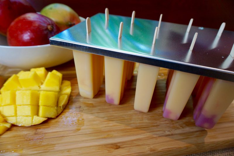chile spiced mango popsicles; Mango Chile Wine Popsicles