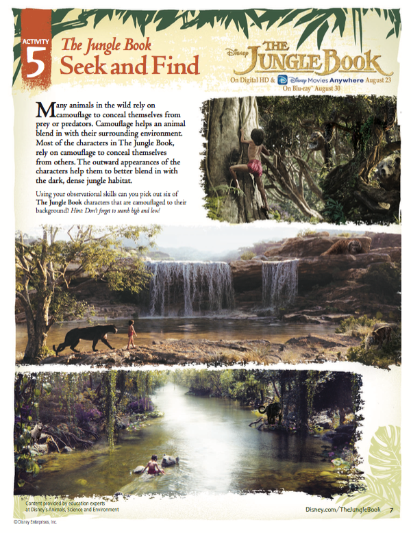 Free Jungle Book Activity Sheets; Easy Jungle Book Party