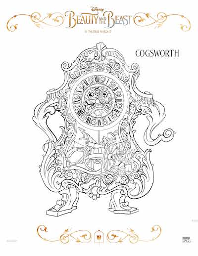 Free Beauty and the Beast coloring pages, Free Beauty and the Beast coloring sheets, Disney Beauty and the Beast Birthday party