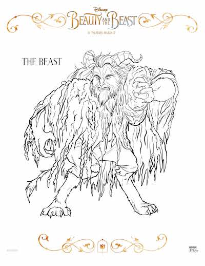 Free Beauty and the Beast coloring pages, Free Beauty and the Beast coloring sheets, Disney Beauty and the Beast Birthday party; The Beast