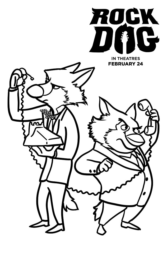 Free Rock Dog Coloring Pages 1