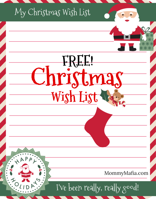 picture regarding Christmas Wish List Printable identify Absolutely free Xmas Drive Checklist Printable - Mommy Mafia