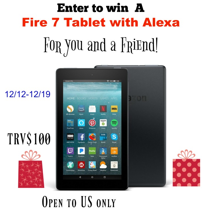 Fire 7 Tablet Giveaway For You And A Friend!